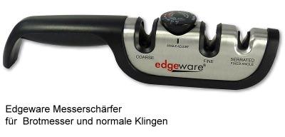 Edgeware Messerschärfer für Brotmesser und normale Klingen